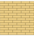 Seamless Pattern of Yellow Bricks Wall vector image vector image