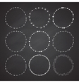 set 9 circle cute hand drawn frames vector image vector image