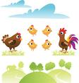 set chicken and hen vector image vector image