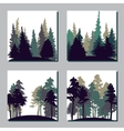 set different landscapes with trees vector image vector image