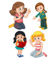 set female character vector image vector image