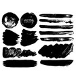 set of brush strokes vector image vector image