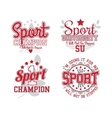 Sport Badges Collection vector image vector image