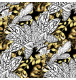 stylish graphic pattern floral pattern golden vector image