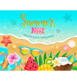 summer 2019 top view banner vector image