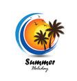 summer logo vector image vector image