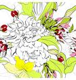 summer seamess wallpaper vector image vector image