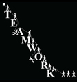 Teamwork themed mountaineering vector image vector image