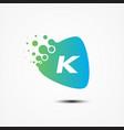 triangle design with k letter symbol design vector image vector image