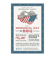 Vintage Memorial Day barbecue invitation vector image vector image