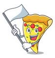 with flag pizza slice mascot cartoon vector image