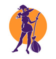 young happy and attractive witch image for your vector image vector image