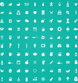 100 cooking icons vector image