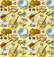 honey pattern vector image