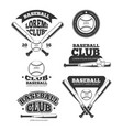 vintage baseball sports old logos and vector image