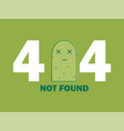 404 error page or file not found icon cute green vector image vector image