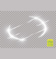abstract luxury light flare semicircle and spark vector image