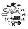 biking icons set simple style vector image vector image
