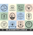 Blacksmith Label Set vector image vector image