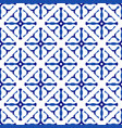 blue and white indigo pattern vector image vector image