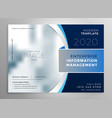 blue corporate presentation template or brochure vector image vector image