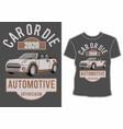 car or dieautomotive enthusiasmshirt design vector image vector image