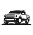 car pick up silhouette good for automotive vector image vector image