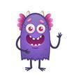 cartoon creature vector image vector image