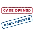 Case Opened Rubber Stamps vector image vector image