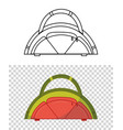 childish cute bag in form a watermelon for vector image