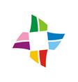 circle shape colorful logo vector image vector image