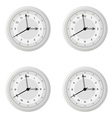 clock dial in four variants with different design vector image