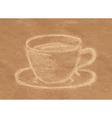 coffee chalk vector image