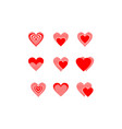 collection loves red logo vector image vector image