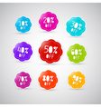 Colorful Discount Labels Tags Set vector image vector image