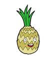 comic cartoon happy pineapple vector image vector image