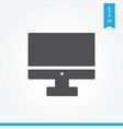 computer screen icon simple sign for web site and vector image vector image