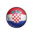croatian flag football - soccer ball vector image vector image