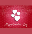 decorative valentines day background with hanging vector image vector image