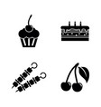 delicacy tasty food simple related icons vector image vector image