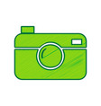 digital photo camera sign lemon scribble vector image vector image