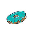 donut with mint icing vector image vector image
