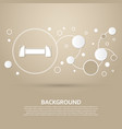 dumbbell icon on a brown background with elegant vector image
