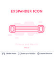 expander icon isolated on white vector image vector image