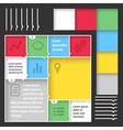 Flat web mobile interface kit vector image
