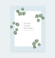 floral wedding invitation greeting card vector image vector image