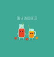 fresh smoothies vector image