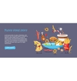 Funny Food Story Conceptual Banner Web Site Design vector image vector image