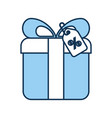giftbox present with percent tag vector image vector image