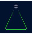 greeting card - simple Christmas green tree vector image